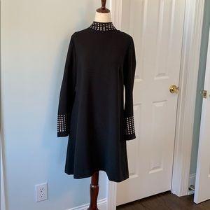 Tahari Bell Sleeve Black Dress. Sz 10